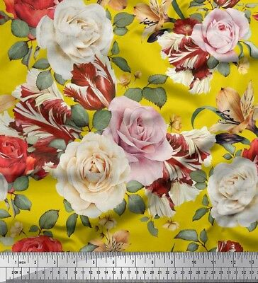 Soimoi Fabric Laurel Leaves Printed Craft Fabric by the Meter-LF-589D