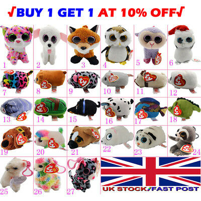 27X Teeny TY Beanie 6cm Mini Plush Stackable Teddy with Tag Full Soft Toys Range