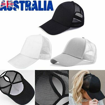 Ponytail Baseball Cap Women Messy Bun Baseball Hat Snapback Sun Sport Caps ON