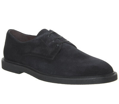 Mens Poste Ineido Derby Shoes Navy Suede Formal Shoes