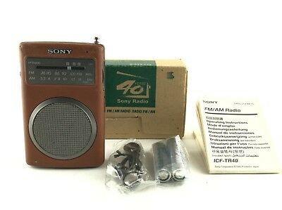 """Excellent"" SONY ICF-TR40 FM/AM Transistor radio 40 YEARS ANNIVERSARY W/ Box JP"