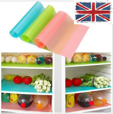 UK HOT ! Easy Clean Kitchen Antibacterial Cabinet Pad Anti Slip Fridge Liner Mat