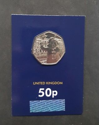 Uncirculated 2018 UK Paddington at the Palace CERTIFIED BU 50p - Free Post!