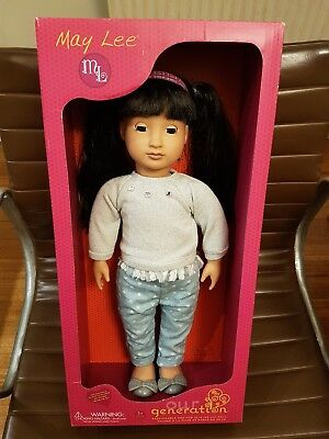 "Unused Our Generation - May Lee -  Asian Doll -18""  was $60+ David Jones"
