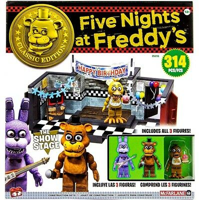 FIVE NIGHTS AT FREDDYS CLASSIC 'SHOWSTAGE' LARGE CONSTRUCTION SET (McFarlane)