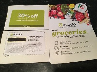 Ocado 30% Off Your First Order + Unlimited Delivery  for 1 Year Ts and Cs Apply*