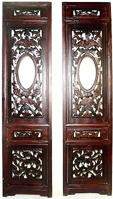 Antique Chinese Screen Panels (2711)(Pair) Cunninghamia Wood, Circa 1800-1849