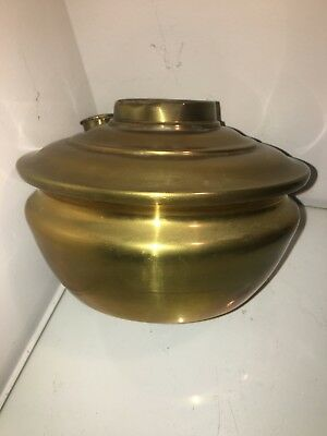 antique  brass oil lamp reservoir