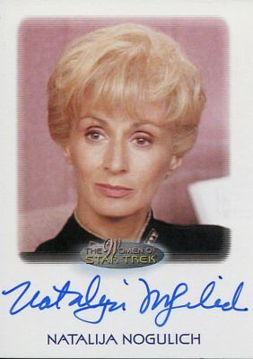 The Women Of Star Trek 2010 Autograph Natalija Nogulich