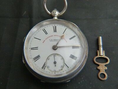 Solid Silver Pocket Watch Dated 1899