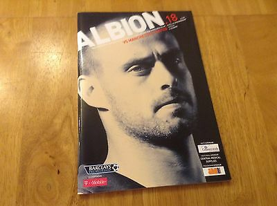 West Bromwich Albion v Manchester United official match day magazine 2005-2006