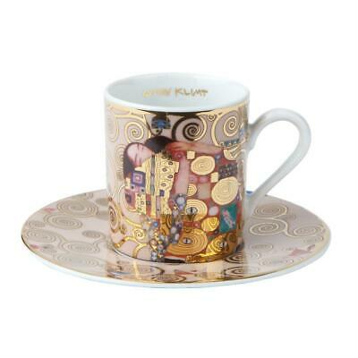 Gustav Klimt Fulfilment Espresso Cup and Saucer 6cm By Goebel