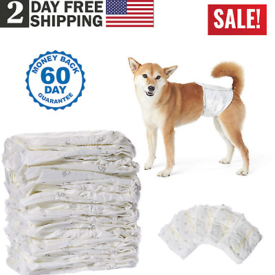 30 Pack Medium Size Waist Disposable Dog Diapers Male Wraps Belly Bands Pet Soft