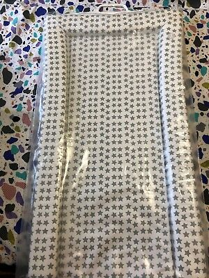 Mothercare Nursery Essentials Baby Changing Mat - White with  Grey Stars.
