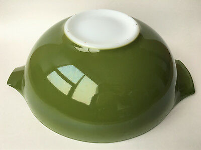 Pyrex Vintage Verde #444 Cinderella Mixing Bowl 4 QT Emerald Green Milk Glass