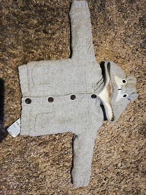 Mothercare Fleece Lined Cardigan 9-12 Months