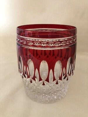 Waterford CLARENDON Ruby Red Double Old Fashioned Glass, 4 Available