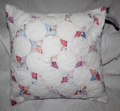 Throw Pillow Made With Vintage 1930's Star Variation Feedsack Patchwork Quilt