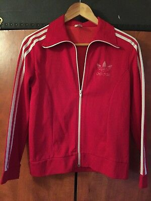 Vintage Red Adidas Jacket Ladies Small