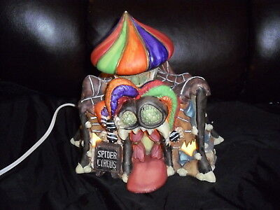 Halloween Village Spider Circus Lighted Haunted House Scale: Lemax, Dept. 56