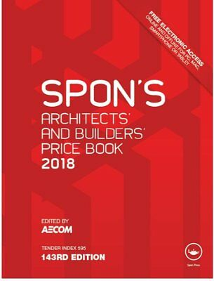 Spon's Architects and Builders Price book 2018 143rd edition ELECTRONIC VERSION