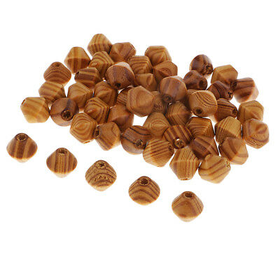 50pcs/Lot Wooden Beads for Jewelry Making Loose Spacer Charms 4mm Hole