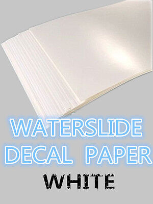SZ02-B A4 Inkjet Water Slide Decal Paper Transfer Paper pack of 20 white