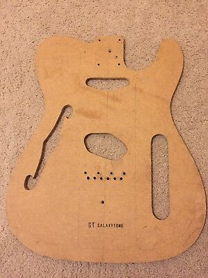 """Fender Thinline Telecaster Body Template With """"F"""" Hole"""