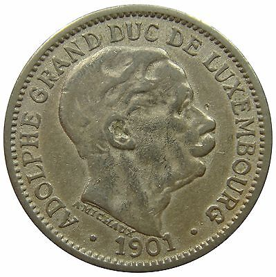 (C68) - Luxemburg Luxembourg - 10 Centimes 1901 - Adolphe - F-VF - KM# 25