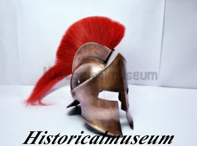 MOVIE HELMET 300 Spartan King Leonidas Medieval Roman Helmet Greek HANDMADE