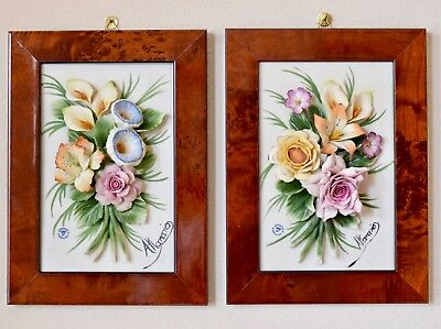 Capodimonte Flowers In Frame