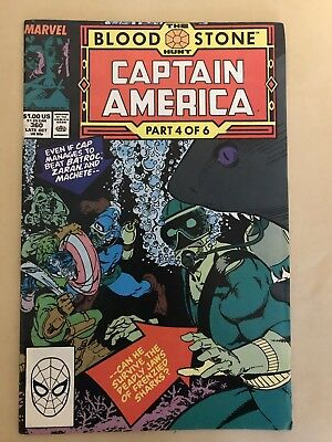 Captain America #360 (Oct 1989, Marvel) First Appearance From Crossbones