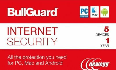 BullGuard Internet Security 2019 - 5 Device / 1 Year - SAME DAY DELIVERY ✔✔✔✔✔