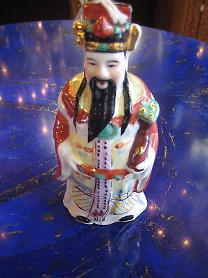 Color full Porcelain Chinese Figure in Traditional Closes, 6.5""