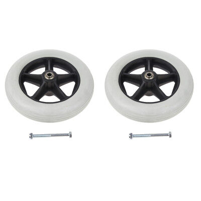 "2 Pack Durable 8"" Wheelchair Front Casters Replacement Wheels Wearproof"