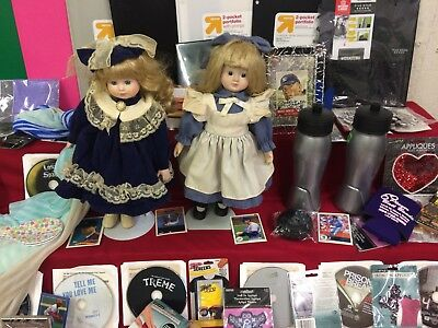 Huge Mixed Junk Drawer Lot Collectibles, Dolls, Cards, Stamps & More #SD