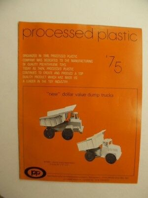 1975 PROCESSED PLASTICS Full Line Toy Fair Catalog Green Army Men Trucks Vintage
