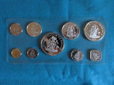 1975 Bahamas Proof Set - 9 Coins - Franklin Mint