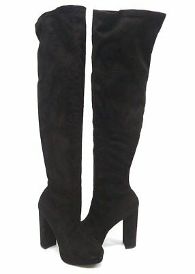 19dfa7a8c73  89 SIZE 8.5 Madden Girl Felize Black Heels Over Knee Boots Womens ...