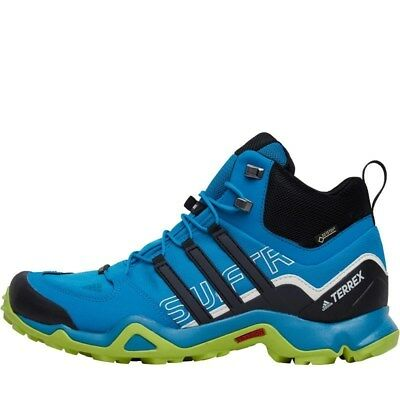 sports shoes 76472 e4e58 Adidas Terrex Swift R Mid GTX Gore-Tex Stivali Uomo - Acquamarina  Nero