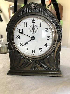 1920-30's Lux Or Westclox?? Art Deco Dome Style Clock Bank. Works