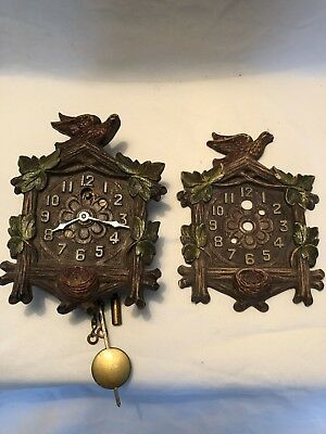 1930's Keebler /Lux Dove Pendulette Novelty Clock with Replacement Front. Works.