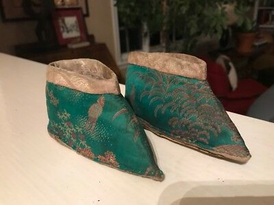 Antique Chinese Japanese Asian Silk LOTUS Foot Binding SHOES * clothes Fashion