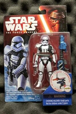 "STORMTROOPER SQUAD LEADER Star Wars The Force Awakens 3.75"" Figure First Order"