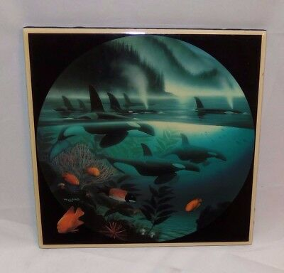 Wyland~Orcas~Harmony Design~Artist Approved Collection~Square Tile