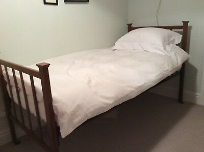Antique Edwardian Single Bed frame and Recently Purchased Mattress