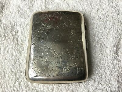 TED DRAKE Football Player  Cigarette Case Silver 1936 Arsenal