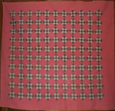 PENN QUILT 9 Patch on Point SMALL SCALE ~ DYNAMITE PAISLEY BACKING ~ ANTIQUE