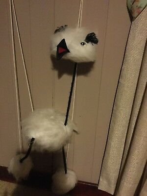 Vintage String Puppet Bird like Character 1990s