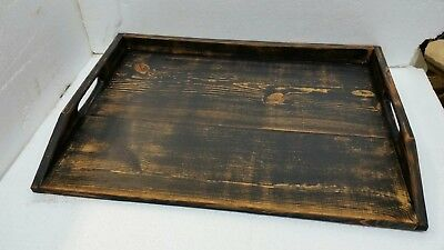 Primitive Stove Cover Noodle Board Hand Crafted Heavily Distressed Black